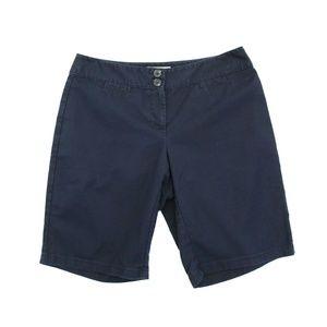 Ann Taylor Navy Blue Chino Shorts Petites 4P Curvy